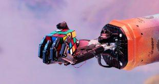 حل مکعب روبیک با دست رباتی