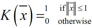 فرمول کرنل یا تابع پنجره