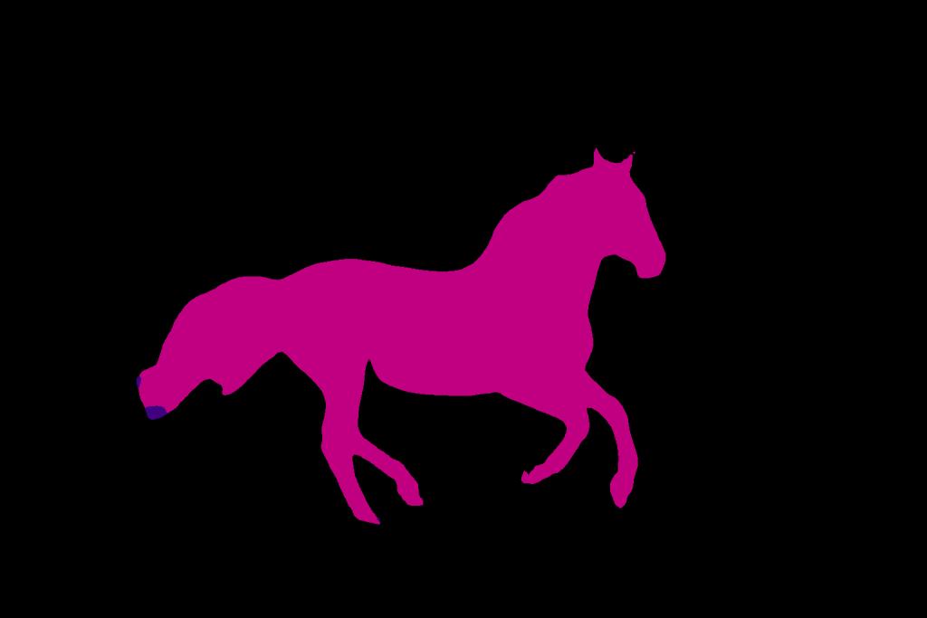 تصویر ناحیه بندی شده اسب در PyTourch