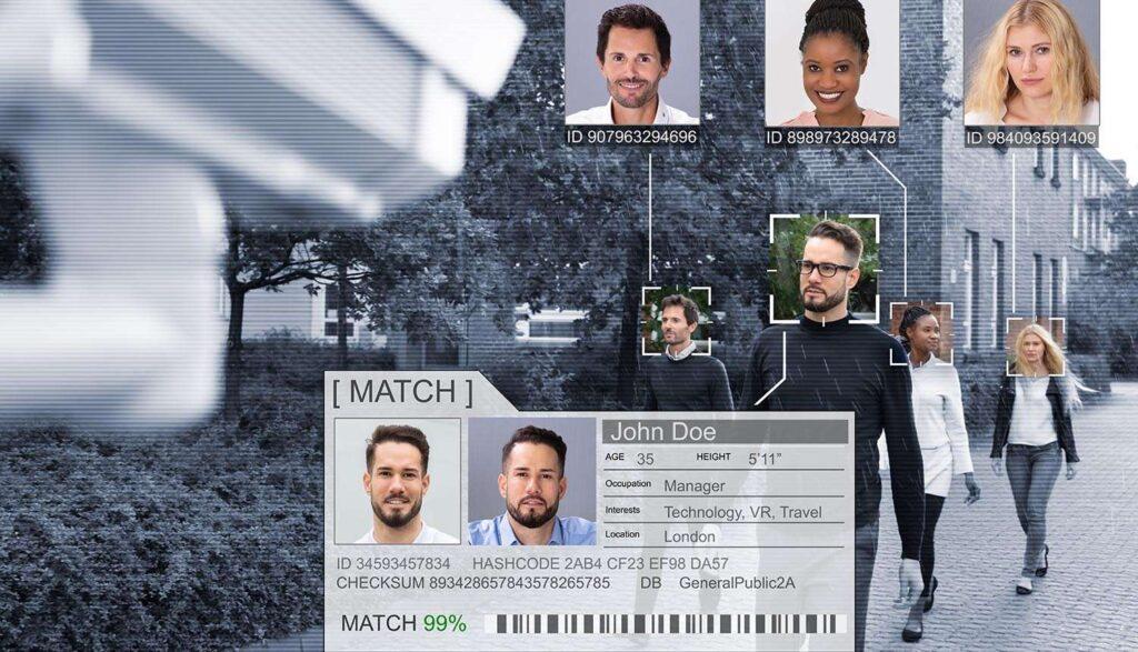 تطابق چهره توسط دوربین امنیتی