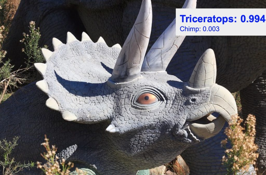 دقت تشخیص کلاس triceratops