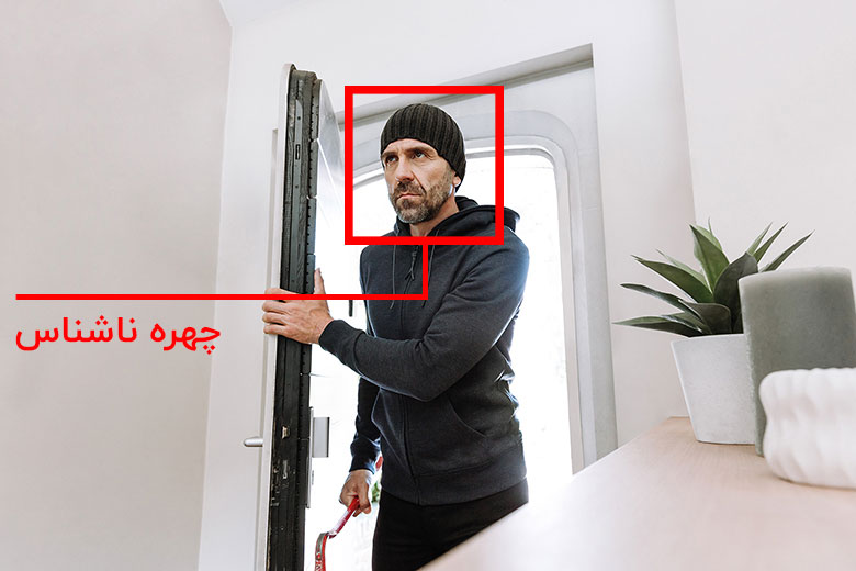 دوربین تشخیص چهره هشدار چهره ناشناس