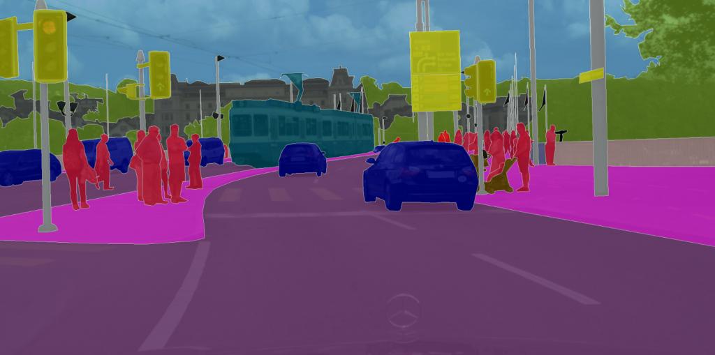 ناحیه بندی تصویر برای خودرو های خودران
