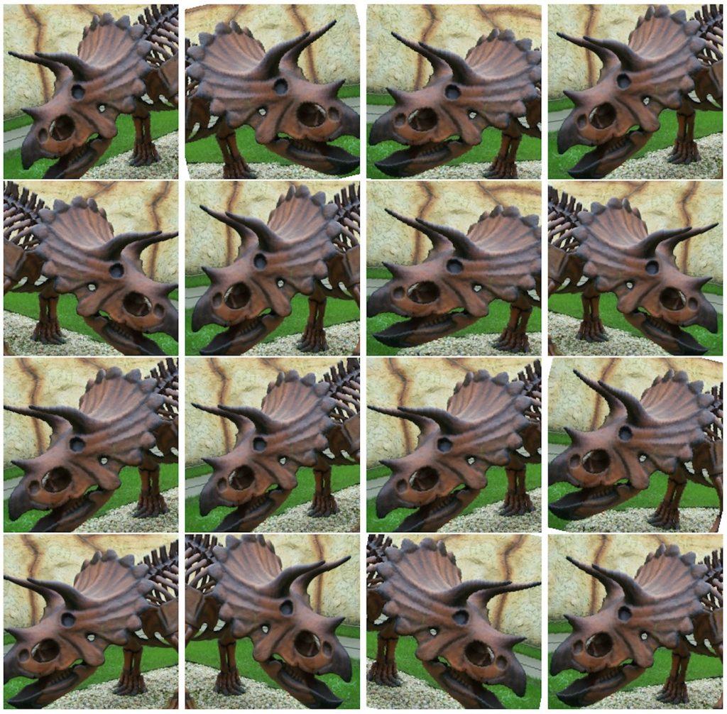 نمونه های تغییر یافته تصاویر Triceratops