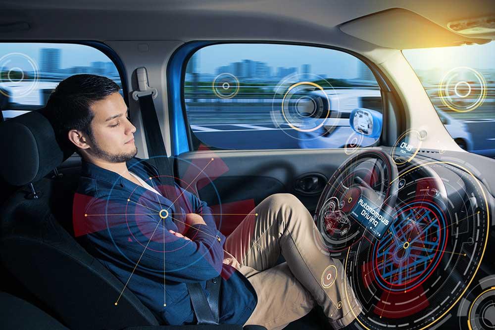 استراحت سرنشین در خودرو خودران