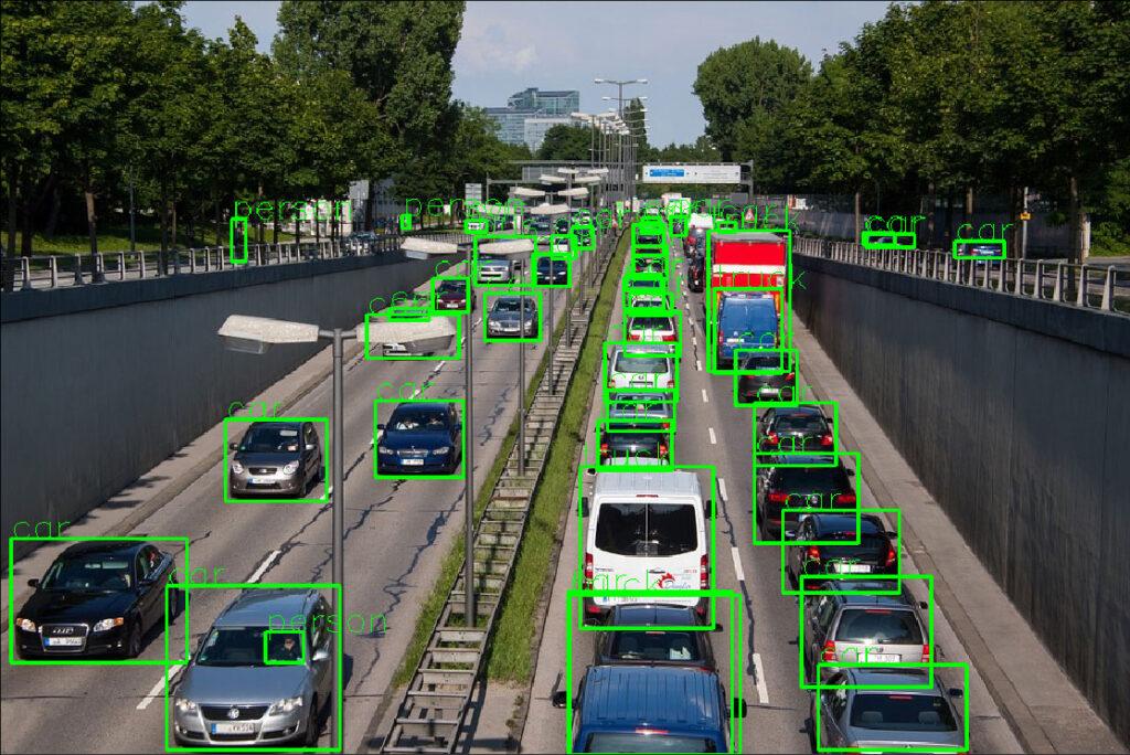تشخیص خودرو و افراد با تشخیص اشیا
