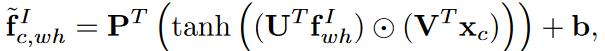 فرمول رابطه ویژگی های تصویر و بردار معنایی