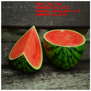 نتیجه تشخیص تصویر هندوانهنتیجه تشخیص تصویر هندوانه
