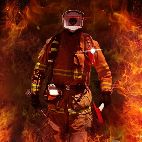 دوربین آشکار ساز آتش Fire Detector محیط نرم افزار Camera آتش نشان Firefighter