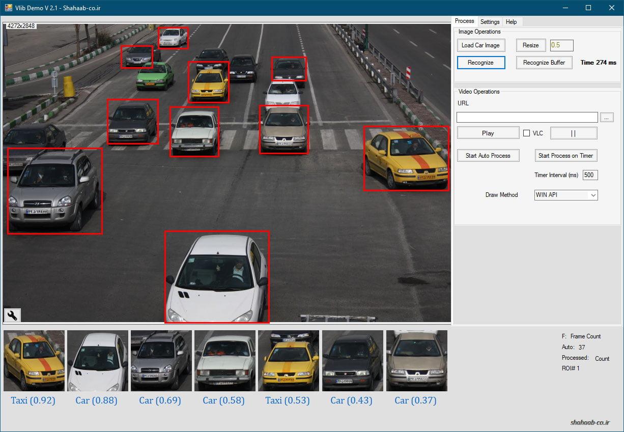 تشخیص نوع خودرو های مختلف در یک فریم