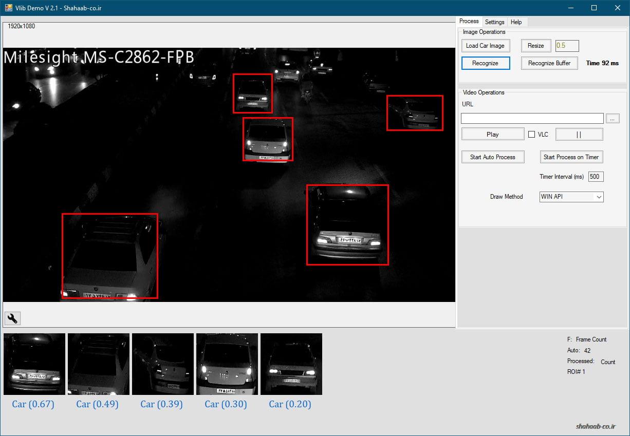 تشخیص خودرو در شب - کتابخانه شناسایی نوع خودرو