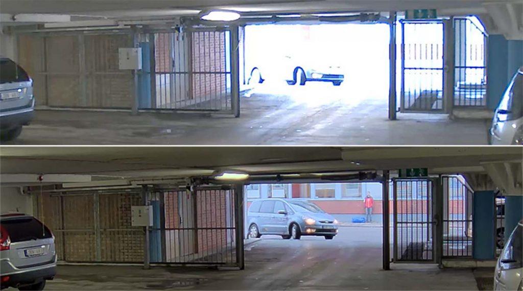 مشکل نور دوربین مداربسته در ورودی پارکینگ